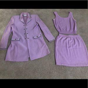St. John 3-piece suit in lavender